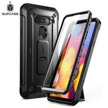 Funda para LG V40 ThinQ V40, funda resistente de cuerpo completo con Protector de pantalla incorporado y soporte de apoyo