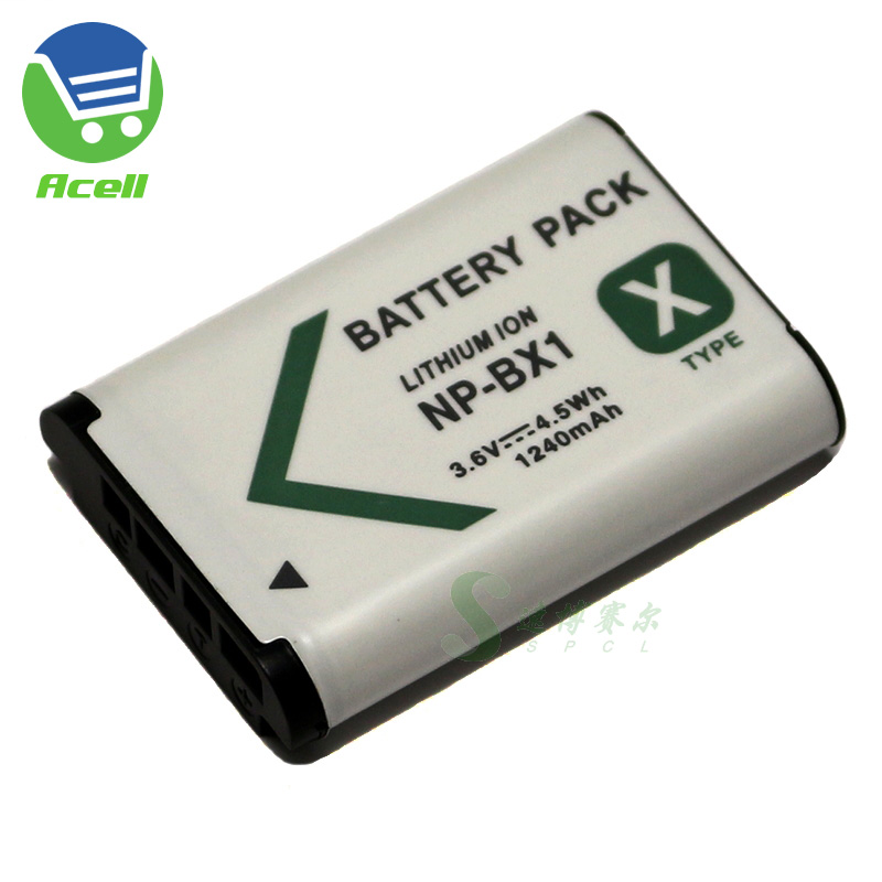 NP-BX1 <font><b>Battery</b></font> for <font><b>SONY</b></font> RX100VII RX100IV RX100III RX1RII <font><b>HDR</b></font>-AS200 <font><b>AS300</b></font> FDR-X3000 X1000 DSC-HX99 WX800 <font><b>HDR</b></font>-PJ410 CX405 Camera image