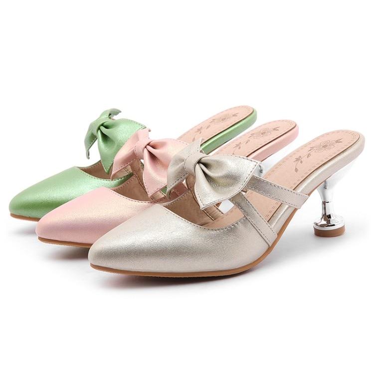 Dedo Luz Mariposa Oro Cerrado Fuera Las Mujeres 2019 34 528 Verde 47 Claro Pie Zapatillas Zapatos Gran Tacón nudo Alto Del verde De rosado Diapositivas Tamaño Verano Rgfwaa