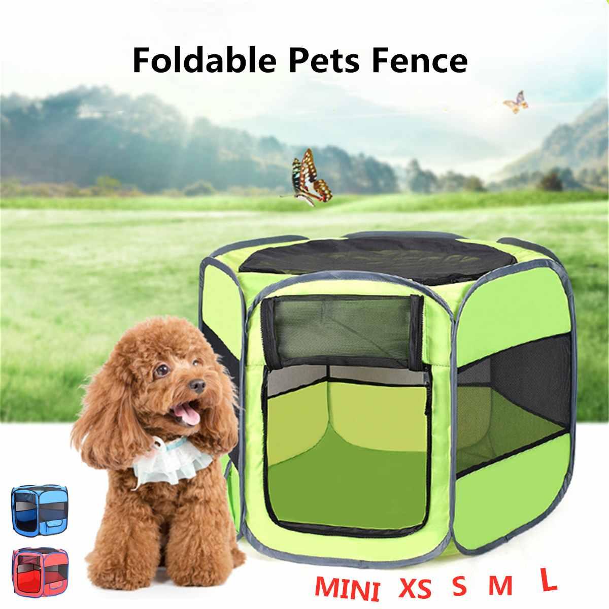 Chat tente parc chiot chenil Portable pliant Pet tente chien maison Cage chien facile opération maison chenils clôture fournitures de plein air