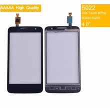10Pcs/lot Original For Alcatel One Touch M'Pop OT5020 5020D 5020 5020X Touch Screen Touch Panel Sensor Digitizer Front Glass стоимость