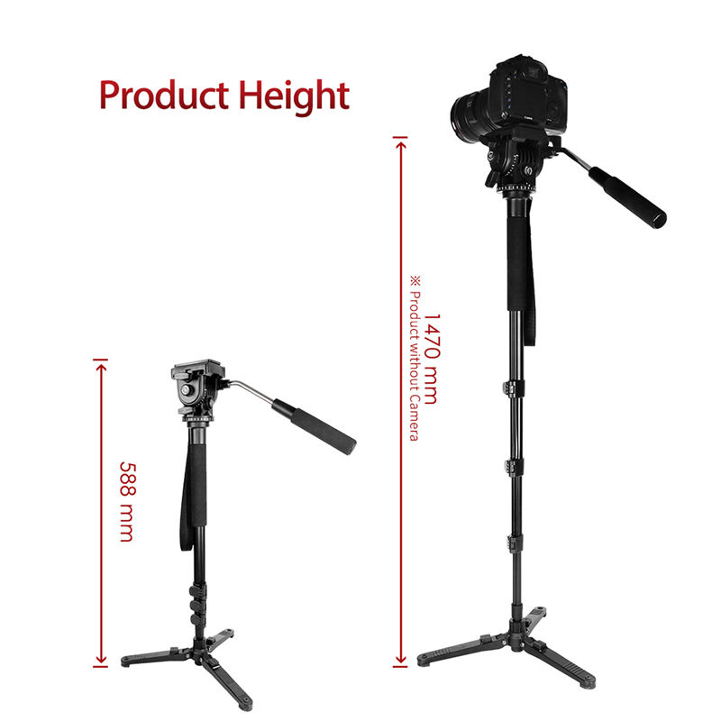 Image 4 - Kingjoy Mp1008F Set Professional Monopod Set Dslr For All Models Camera Tripod Stand Para Movil Flexible Tripe Stativ Slr Dslr-in Live Tripods from Consumer Electronics