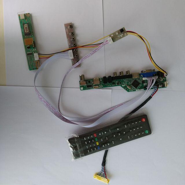TV HDMI AV VGA USB TV56 LCD LED sürücü Kontrol kurulu kiti Kart DIY LTN160AT01 Için 1366X768 Paneli ekran