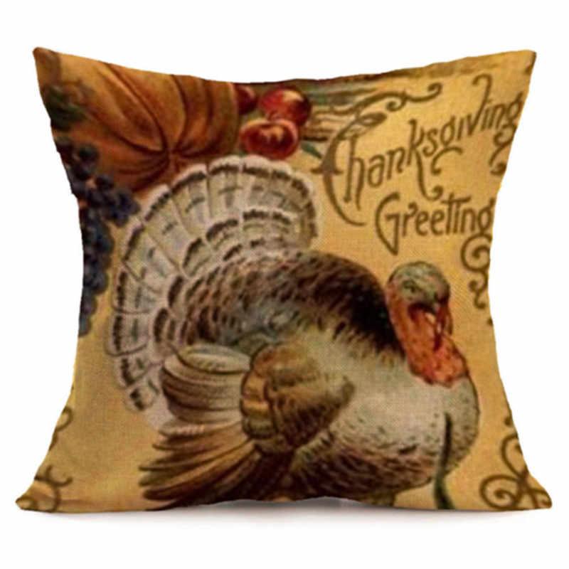 高品質感謝祭枕ケースリネンクリスマスホーム装飾枕ケース英国在庫