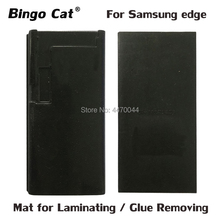 LCD Laminating Mold Black Silicone Rubber Mat Mould With Space For Flex Cable For Samsung Galaxy S8 S9 Plus S7 S6 edge Note 8 9 2pcs high precision metal mold mould for samsung s6 edge s7 edge lcd screen laminating and location
