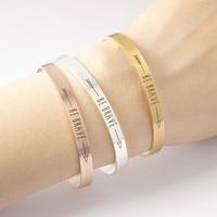 TSHOU72 Brave Bracelet Rose Gold color Silver Bracelet silver color