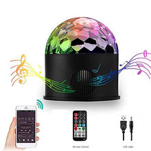9W Stage Light Lamp DJ Party With Remote Control Music RGB Disco Rotating Bluetooth Speaker Led Projector Ball(China)