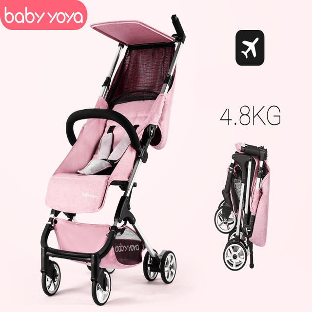 4.8KG ultra-light stroller 175-degree trolley can be on the plane mini-pocket umbrella carts  folding portable stroller