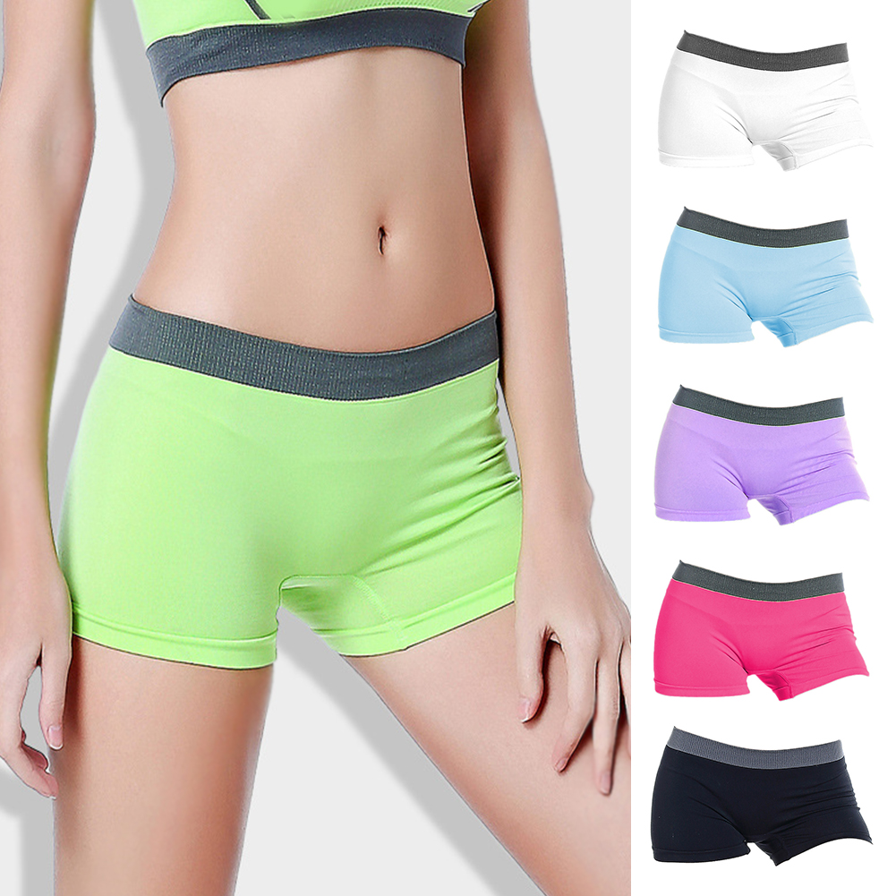 Strict Women Underwear Hip Lift Sports Wear Underwear Elastic Pants Ladies Anti-bacteria Boxers Mid Waist Seamless Underwear & Sleepwears
