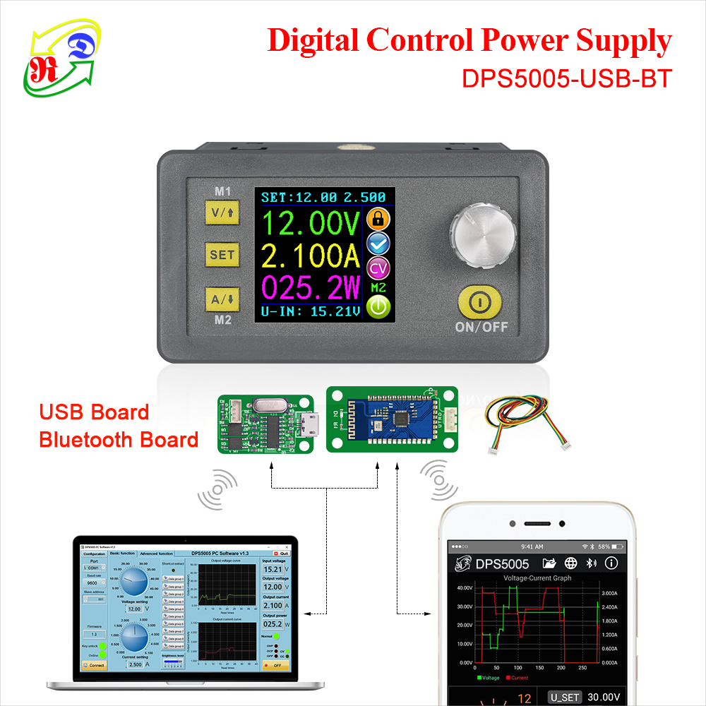 RD DPS5005 Communication Function Constant Voltage current Step-down Power Supply module buck Voltage converter LCD voltmeter smartfit 3.0 activity tracker