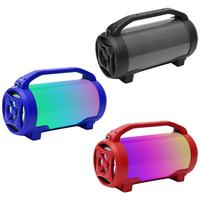 Portable Super Bass Wireless Bluetooth Stereo Subwoofer Led Colorful Subwoofer 5 Inch Barrel Bluetooth Audio Card Usb Speaker