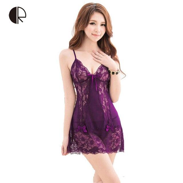 97e0584f529 CR New Women s Sexy Lace Nightgowns Fashion Sleepwear Hallow Out Slip Sleeping  Dress Wholesales