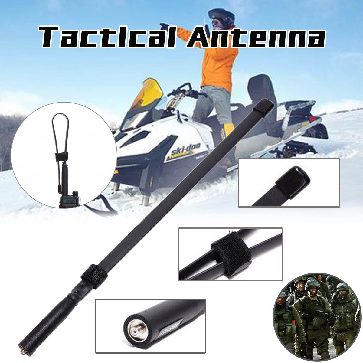 48cm Tactical Antenna AR-152A SMA-Female Dual Band VHF UHF 144/430Mhz Foldable for Walkie Talkie Foldable48cm Tactical Antenna AR-152A SMA-Female Dual Band VHF UHF 144/430Mhz Foldable for Walkie Talkie Foldable