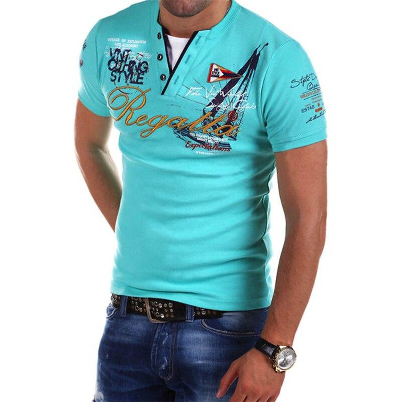 Zogaa 2019 chaud été hommes mode Polo chemise en coton solide à manches courtes affaires décontracté lettre impression homme Polo