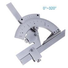 ユニバーサル分度器 0 320 度精密ゴニオメータ角度測定ファインダー定規ツール木工測定ツールドロップシップ