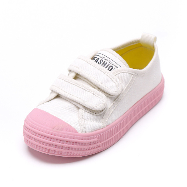 Boys and Girls Kids Canvas Shoes 2019 New Spring Autumn Non-slip Double Hook and Loop Casual Sneakers 1 2 3 4 6 years many color
