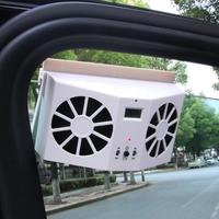 Solar Sun Powered Car Window Auto Air Vent Cool Coolling Fan Cooler Energy Saving Ventilation System Radiator Car styling