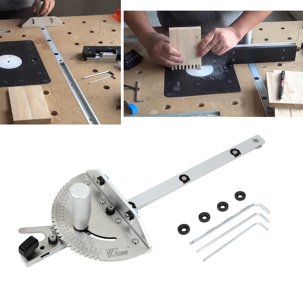 Miter Gauge Table Saw/Router Miter Gauge Sawing Assembly Ruler For Table Saw Router 450mm Long Wood Working Saw Tool