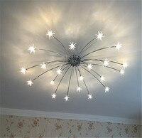 Nordic блеск Звездное люстра огни кристалл гостиная люстры для спальни освещение отель Декор Светильник дома подвесной светильник