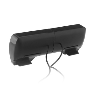 Image 3 - ミニポータブルusbステレオスピーカーサウンドバーノートパソコン用Mp3電話音楽プレーヤーコンピュータpcクリップ黒