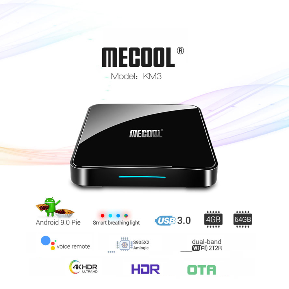 MECOOL KM3 Smart TV Box Android 9 0 Amlogic S905X2 4GB RAM 64GB ROM 2 4G