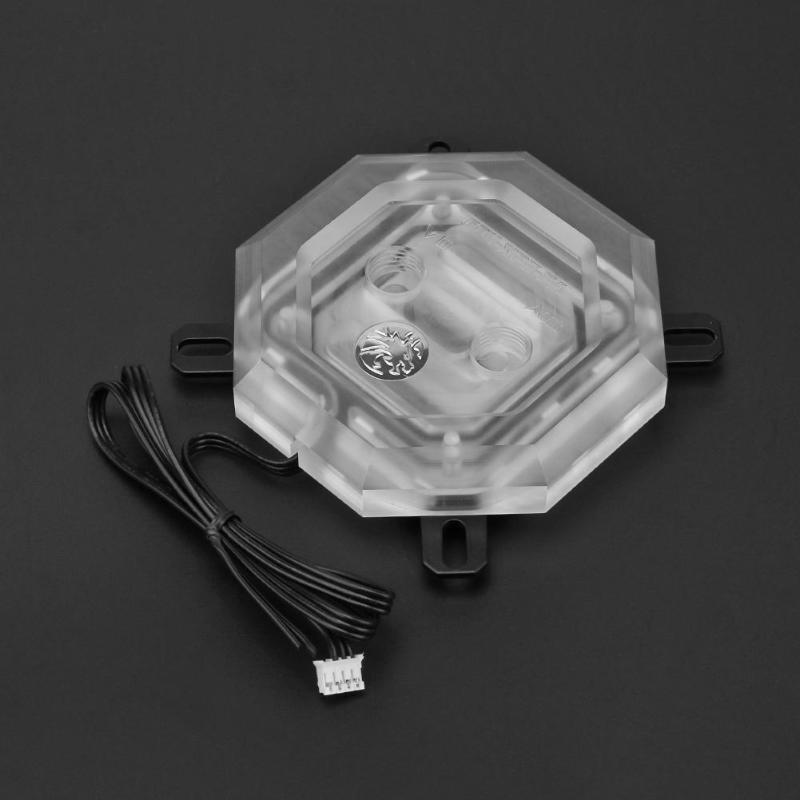 CPU-XPH-PA CPU bloc d'eau coloré système d'éclairage bloc de refroidissement à l'eau Support carte mère synchronisation pour ordinateur PC