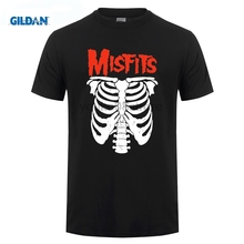 GILDAN Rock Band The Misfits Skull T Shirt Punk T-Shirt Men Women Tshirt Clothing Cotton Tee Unisex Fashion Streetwear