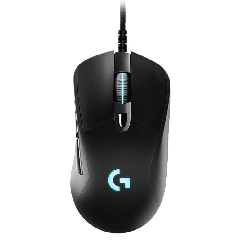 Logitech G403 Wired RGB <font><b>Gaming</b></font> <font><b>Mouse</b></font> Backlight <font><b>12000</b></font> <font><b>DPI</b></font> for PUBG PC Gamer Support Windows 10/8/7 image