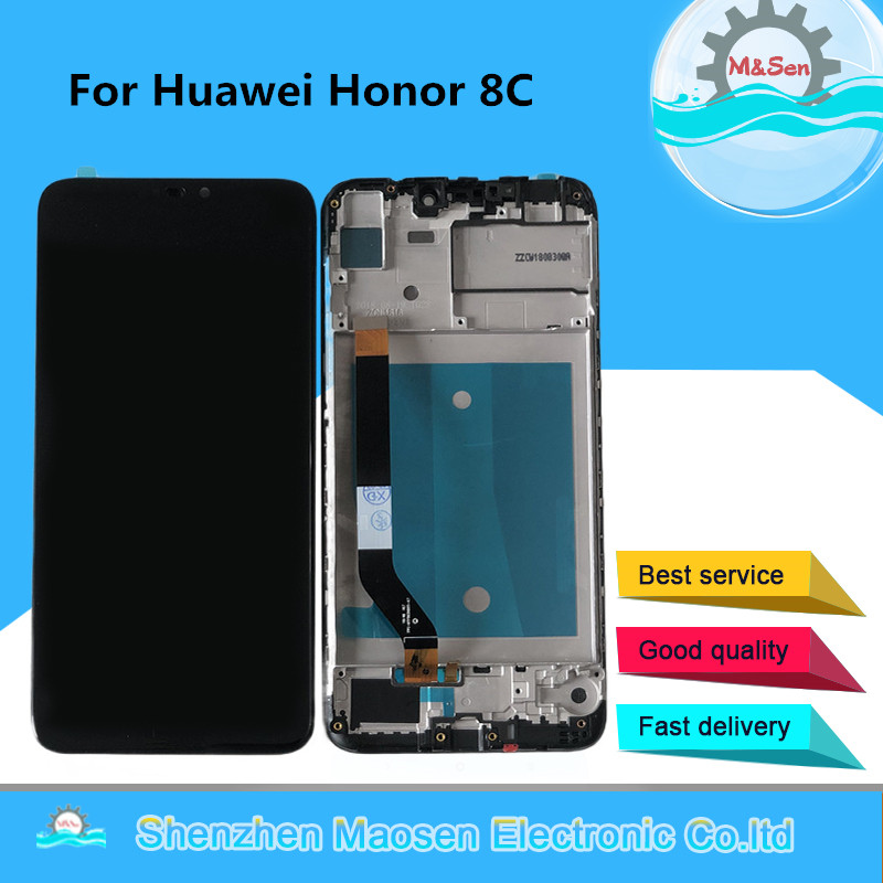 Original M&Sen For Huawei <font><b>Honor</b></font> <font><b>8C</b></font> BKK-AL10 LCD <font><b>Display</b></font> <font><b>Screen</b></font> <font><b>With</b></font> Frame+<font><b>Touch</b></font> Panel Digitizer For <font><b>Honor</b></font> <font><b>8C</b></font> BKK-L21 LCD Frame image