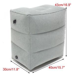 Image 2 - Mais novo quente útil inflável portátil viagem apoio para os pés travesseiro avião trem crianças cama pé resto pad8