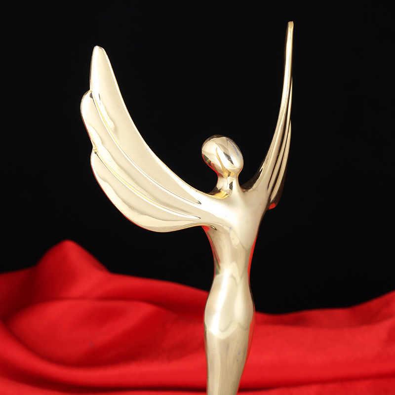 Новый 29 см Оскар трофей ангел Статуэтка трофеос Металл Спортивное состязание приза ремесло сувенир трофей победители медаль сувенирная чаша