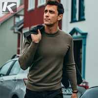 Autumn Men Sweater Solid Black Gray Green White Color Pullovers For Man Casual Slim Clothing New Male Wear Knitwear Tops 8921