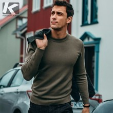 Autumn Men Sweater Solid Black Gray Green White Color Pullovers For Man Casual Slim Clothing New