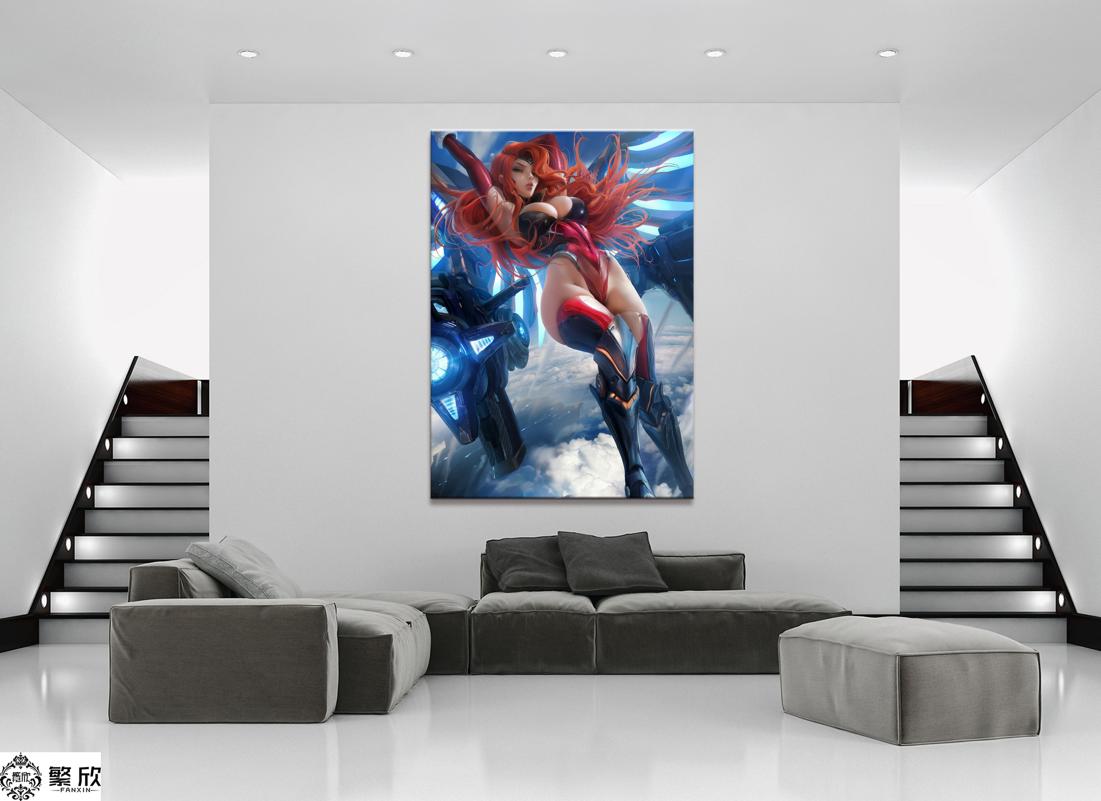 Home Modular Canvas Picture Sexy Miss Fortune League -6172