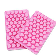 Silicone Mold 3D Lovely Cute Heart 55 Holes Small  Shape Fondant Ice Cake Chocolate Craft Decorating Tools