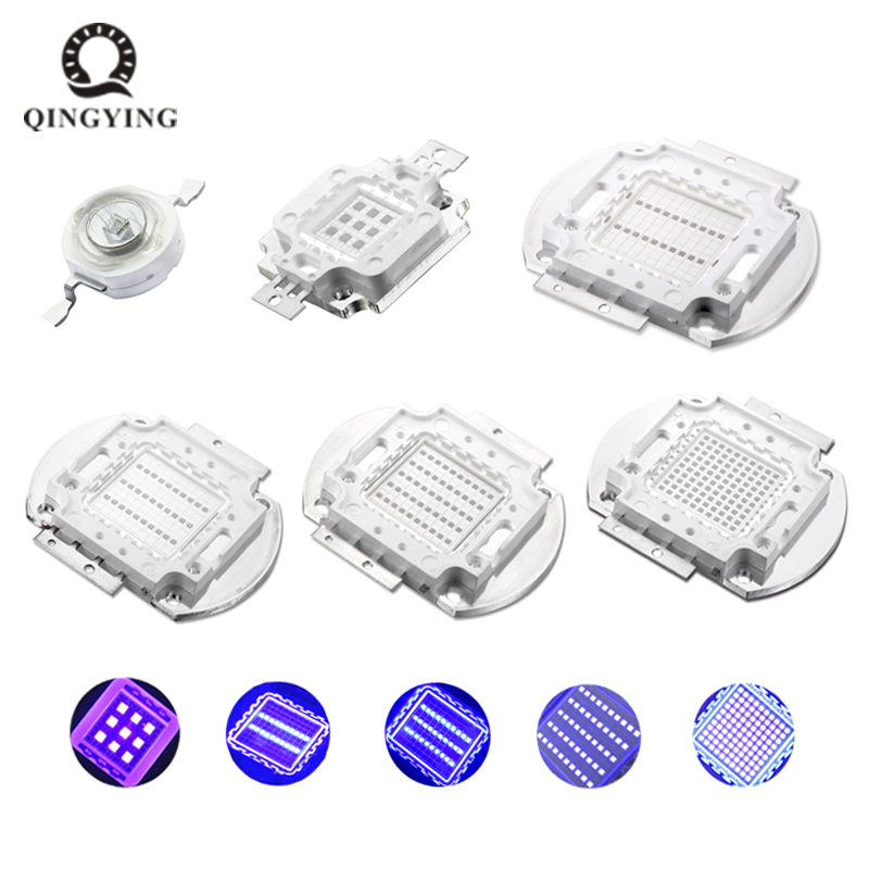 <font><b>UV</b></font> Purple High Power <font><b>LED</b></font> Bulbs Ultra Violet Chips 360nm 365nm 370nm 380nm 390nm 395nm 400nm 405nm 1W 3W 5W 10W 20W 30W 50W 100W image