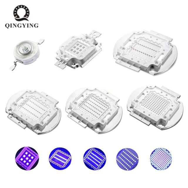 UV Lila High Power Led lampen Ultra Violet Chips 360nm 365nm 370nm 380nm 390nm 395nm 400nm 405nm 1 watt 3 watt 5 watt 10 watt 20 watt 30 watt 50 watt 100 W