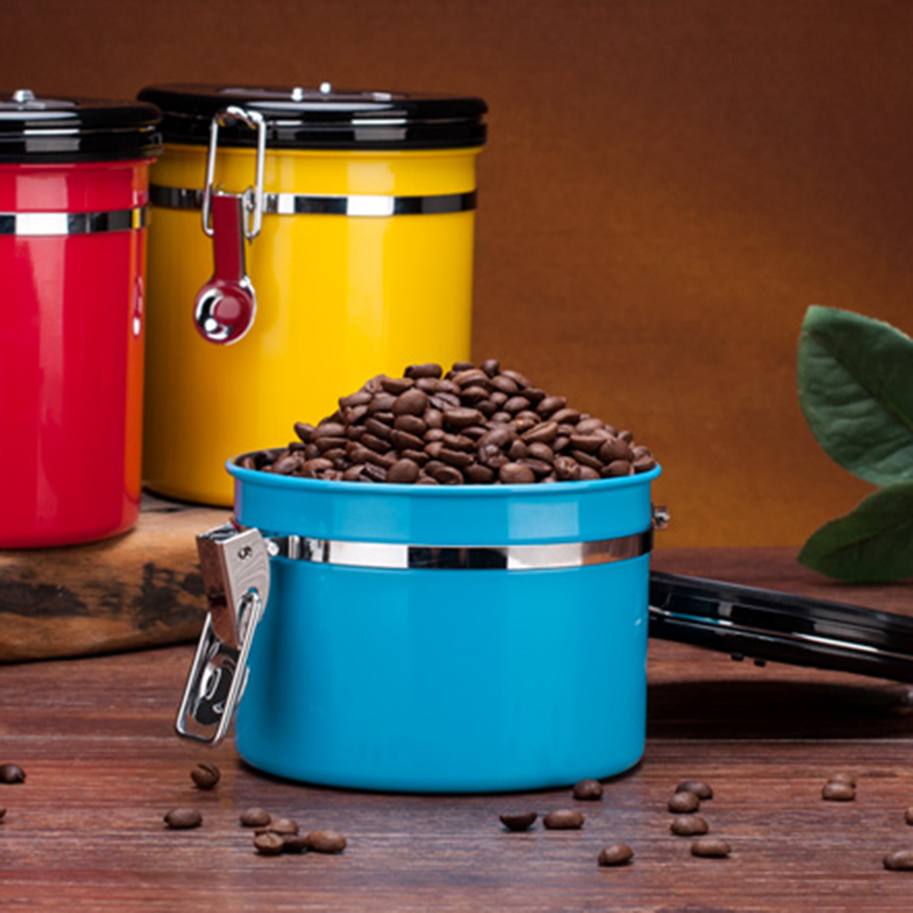 Coffee Bean Container Stainless Steel Coffee Canister Sealed Cans Eco-friendly Sealed Cans For Coffee Beans Tea Flour Sugar