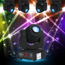 9 / 11 Channels 7 Colors 30W DMX512 Head Moving Sound Control Rainbow Changing Light LED Stage Pattern Lamp for Disco KTV Party(China)