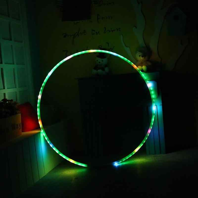 LED Lighting Fitness Circle Changing Light Rechargable Loose Weight Toy Holiday DIY Decorations 300 Kinds Lighting Effects
