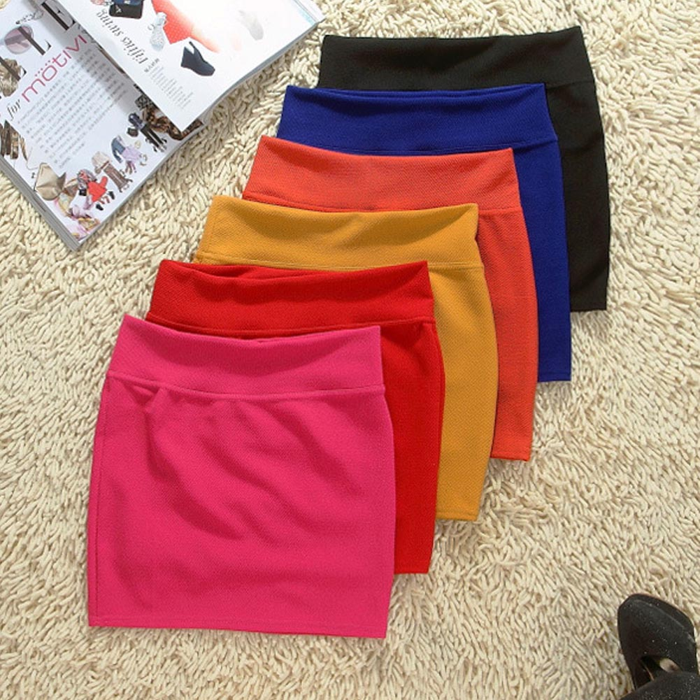Girls Skirts Hip-Short Office-Party Micro Mini Sexy Black Casual Summer New Package Tight