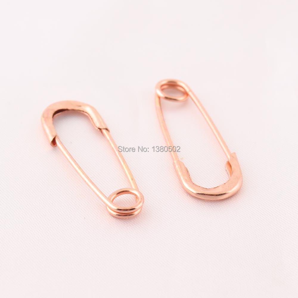 20pcs/lot 38mm Rose Gold Color Brooch pin Safety Pins sewing tool Jewelry Accessories