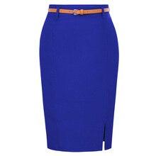 High Street, Женская замшевая разноцветная юбка-карандаш средней длины, женские осенние зимние базовые облегающие трубчатые юбки-карандаш