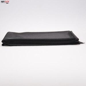 Image 3 - HIFIDIY altavoz en vivo de tela tipo rejilla, tela estéreo, Gille, accesorios de protección, poros suaves negros, 1,5x0,5