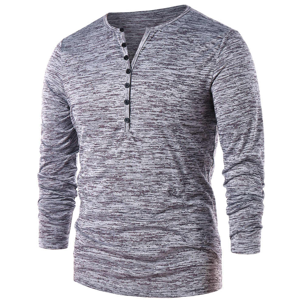 d17b0dad Detail Feedback Questions about Hemiks Men Half Button Henley T Shirt  Fashion Casual O Neck Long Sleeve T Shirts Spring Male Solid Tees Tops on  ...