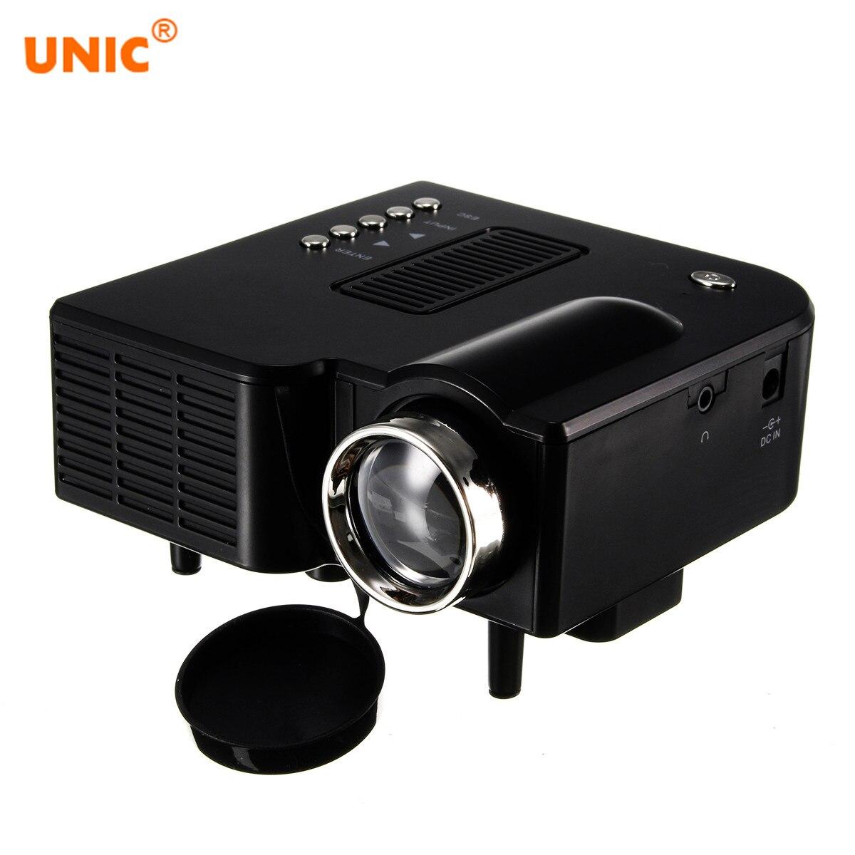 UNIC UC28 + Tragbare LED Projektor Kino Theater Mini Projektor USB/SD/AV Eingang Mini Unterhaltung Projektor