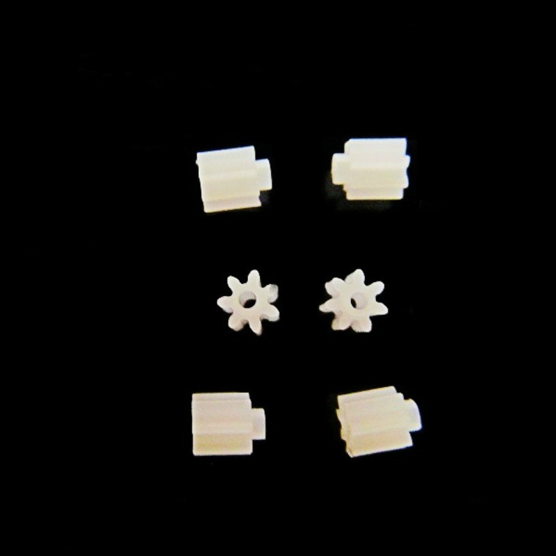 6PCS/Lot 7 Teeth 0.75mm Shaft Hole Gears Small Remote Control Helicopter Spare Parts Motor Small Gear 7T Diameter 2.6mm