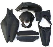 Para suzuki Jinan qingqi mastiff tibetano qm200gy b un plástico negro tres generaciones de todo el coche Piezas de motocicleta