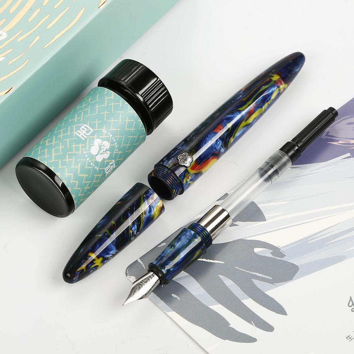 Résine Acétate fibre Génial stylo-plume Schmidt Fine Plume D'écriture stylo à encre Ensemble pour le Cadeau D'affaires Collection stylo cadeau