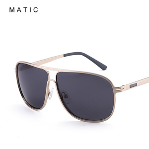 Image 3 - MATIC High Polarized Lenses Vintage Aviation Sunglasses For Mens Drivers Square Gold Metal Frame Sun Glasses Male uv400 Eyewear